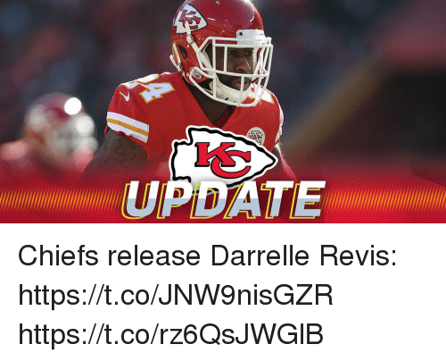 Memes, Chiefs, and 🤖: UPDATE Chiefs release Darrelle Revis: https://t.co/JNW9nisGZR https://t.co/rz6QsJWGlB