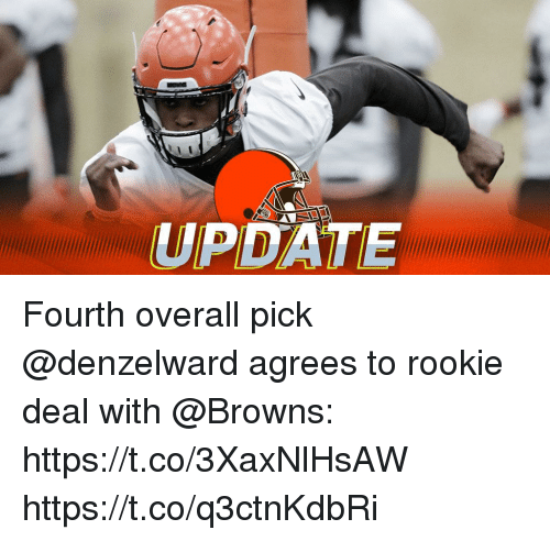 Memes, Browns, and 🤖: UPDATE Fourth overall pick @denzelward agrees to rookie deal with @Browns: https://t.co/3XaxNlHsAW https://t.co/q3ctnKdbRi