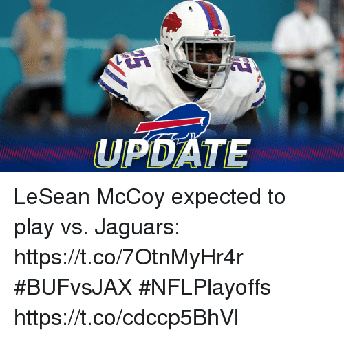 Memes, Lesean McCoy, and 🤖: UPDATE LeSean McCoy expected to play vs. Jaguars: https://t.co/7OtnMyHr4r #BUFvsJAX #NFLPlayoffs https://t.co/cdccp5BhVl