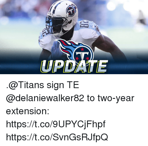 Memes, 🤖, and Titans: UPDATE .@Titans sign TE @delaniewalker82 to two-year extension: https://t.co/9UPYCjFhpf https://t.co/SvnGsRJfpQ