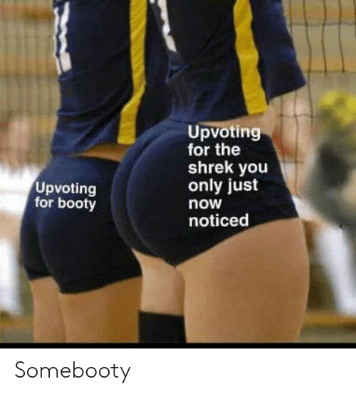 Booty: Upvoting  for the  shrek you  only just  Upvoting  for booty  now  noticed Somebooty