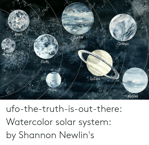 lars: Uranus  mertary  Earth  urn  lars ufo-the-truth-is-out-there:  Watercolor solar system: byShannon Newlin's