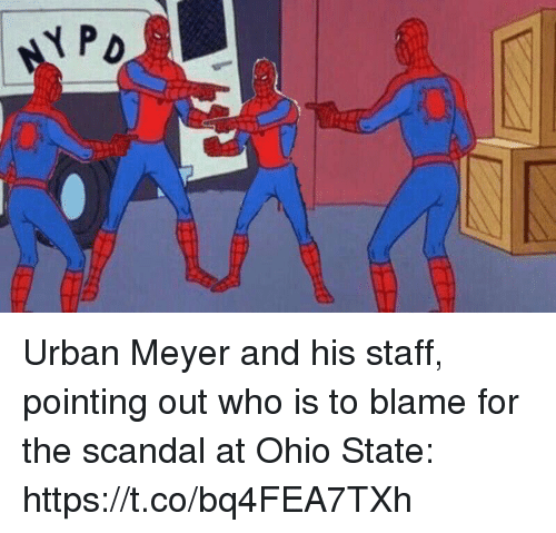 Sports, Ohio, and Ohio State: Urban Meyer and his staff, pointing out who is to blame for the scandal at Ohio State: https://t.co/bq4FEA7TXh