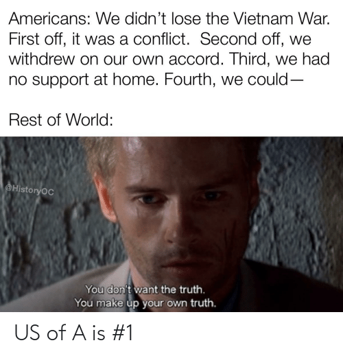 History: US of A is #1