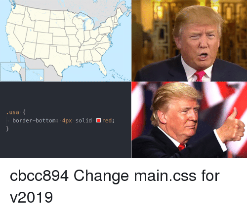 Change, Usa, and Red: .usa  border-bottom:  4px  solid  red; cbcc894 Change main.css for v2019
