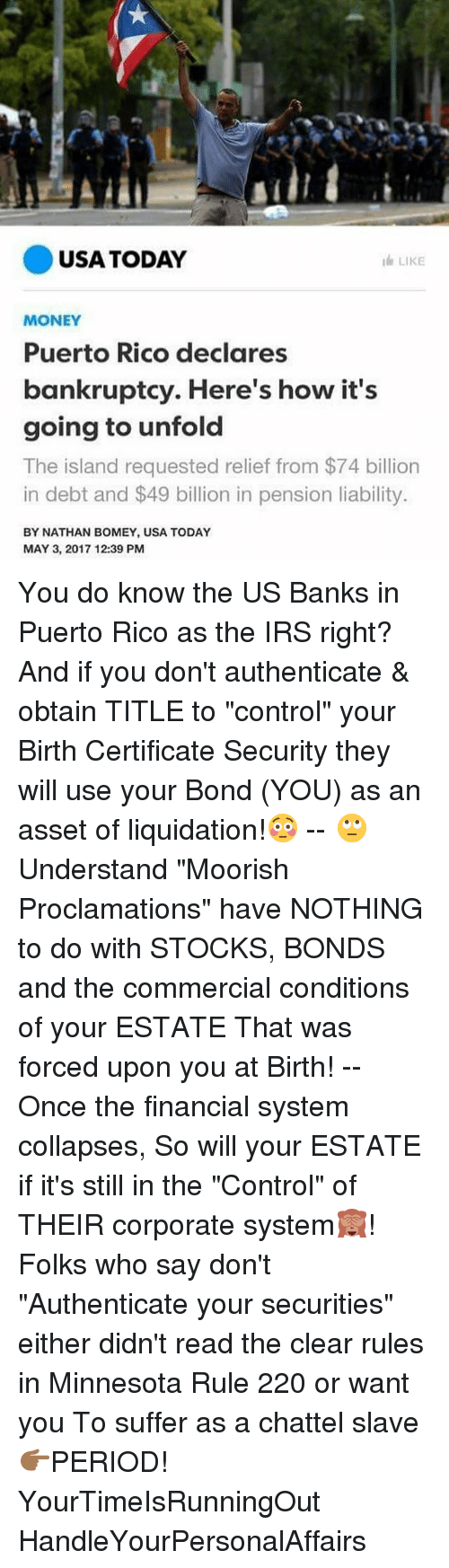 Usa Today I Like Money Puerto Rico Declares Bankruptcy Heres How