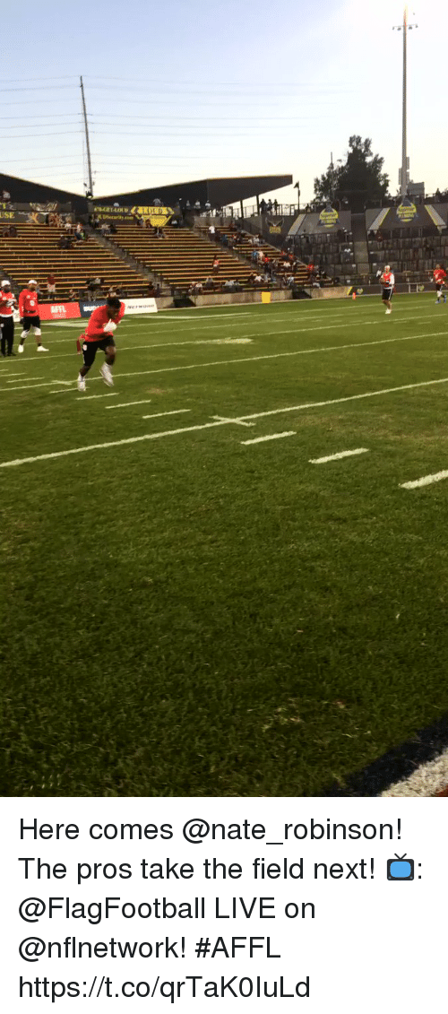 Nate Robinson: USE Here comes @nate_robinson! The pros take the field next!  📺: @FlagFootball LIVE on @nflnetwork! #AFFL https://t.co/qrTaK0IuLd