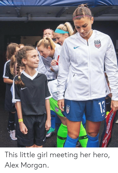 Alex Morgan, Girl, and Hero: uSP This little girl meeting her hero, Alex Morgan.