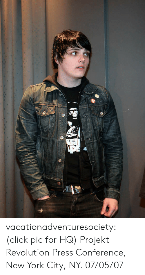 Click, New York, and Tumblr: vacationadventuresociety:  (click pic for HQ) Projekt Revolution Press Conference, New York City, NY. 07/05/07