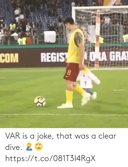 That Was: VAR is a joke, that was a clear dive. 🤦♂️🙄 https://t.co/081T3I4RgX