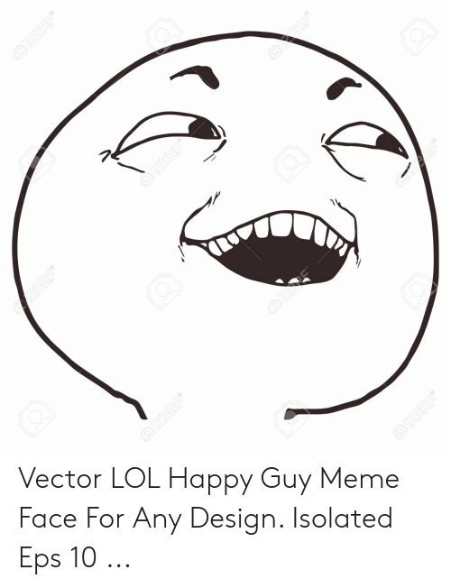Any Design: Vector LOL Happy Guy Meme Face For Any Design. Isolated Eps 10 ...