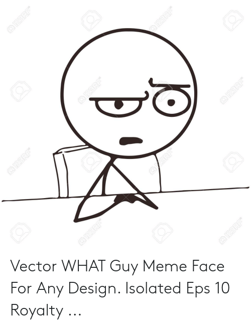 Any Design: Vector WHAT Guy Meme Face For Any Design. Isolated Eps 10 Royalty ...