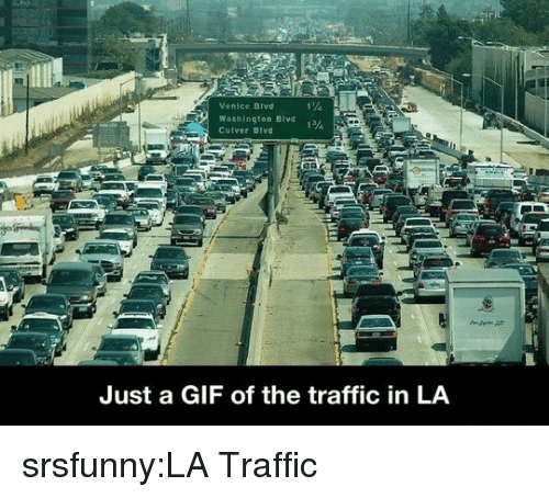 venice: Venice BIvd  Washington Bivd  Cuiver Bivd  Just a GIF of the traffic in LA srsfunny:LA Traffic