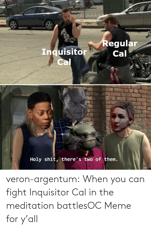Fight: veron-argentum:  When you can fight Inquisitor Cal in the meditation battlesOC Meme for y'all