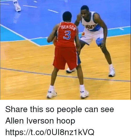 hooping: (VERSQ Share this so people can see Allen Iverson hoop https://t.co/0UI8nz1kVQ