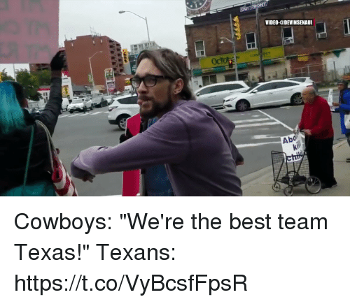 "Best Team: VIDEO-@DEVINSENAUI  Abo Cowboys: ""We're the best team Texas!""   Texans: https://t.co/VyBcsfFpsR"