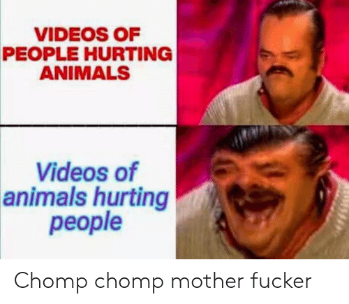 Animals, Videos, and Mother: VIDEOS OF  PEOPLE HURTING  ANIMALS  Videos of  animals hurting  реople Chomp chomp mother fucker