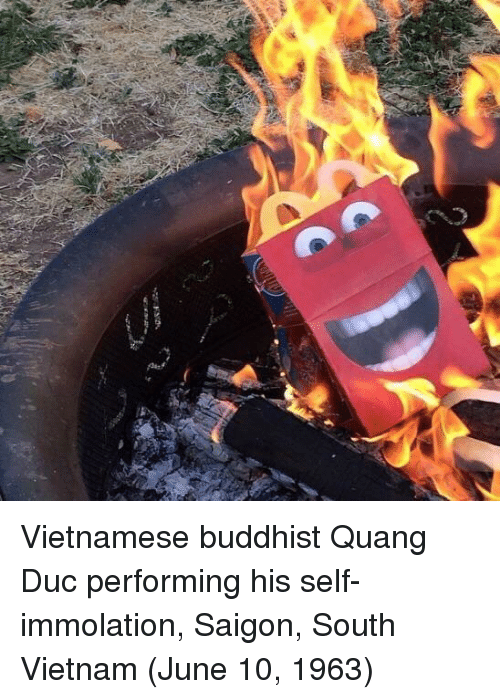 Vietnam, Vietnamese, and Saigon: Vietnamese buddhist Quang Duc performing his self-immolation, Saigon, South Vietnam (June 10, 1963)