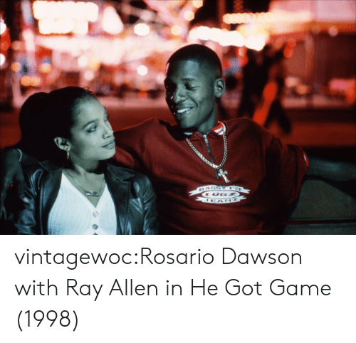 Rosario: vintagewoc:Rosario Dawson with Ray Allen in He Got Game (1998)