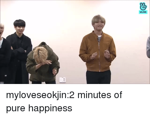 Pure Happiness: VLIVE myloveseokjin:2 minutes of pure happiness