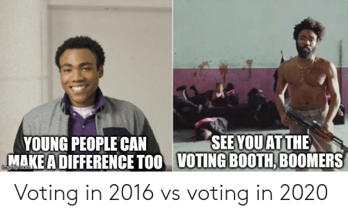 In 2016: Voting in 2016 vs voting in 2020