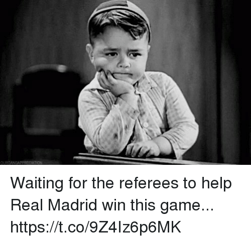 Real Madrid, Soccer, and Game: Waiting for the referees to help Real Madrid win this game... https://t.co/9Z4Iz6p6MK
