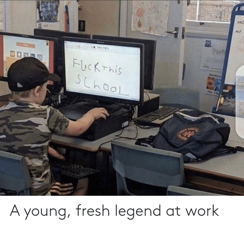 at-work: WAL  ALF  Perf  FucKThis  SchooL  Aendana A young, fresh legend at work