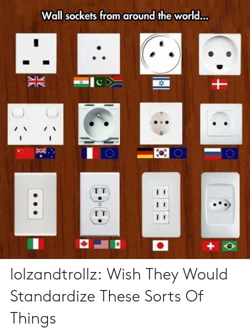 sockets: Wall sockets from around the world...  I T lolzandtrollz:  Wish They Would Standardize These Sorts Of Things