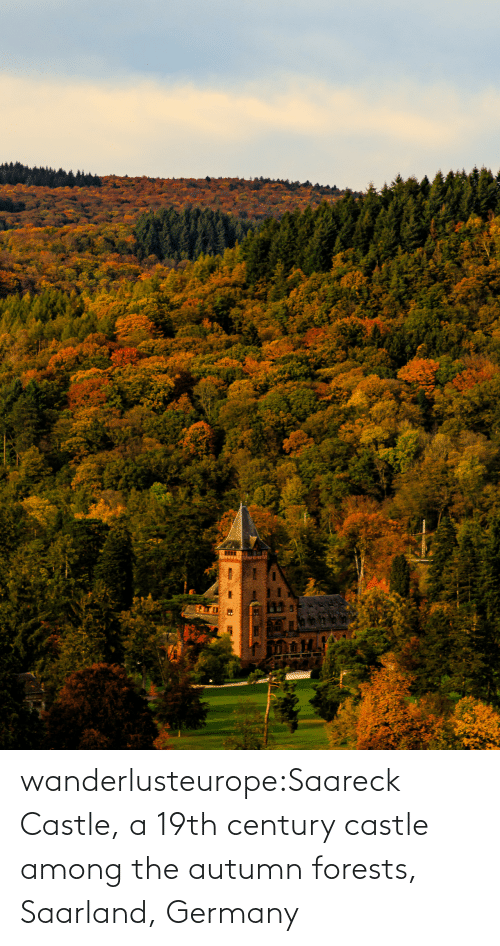 Aid: wanderlusteurope:Saareck Castle, a 19th century castle among the autumn forests, Saarland, Germany