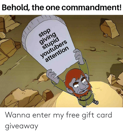 card: Wanna enter my free gift card giveaway