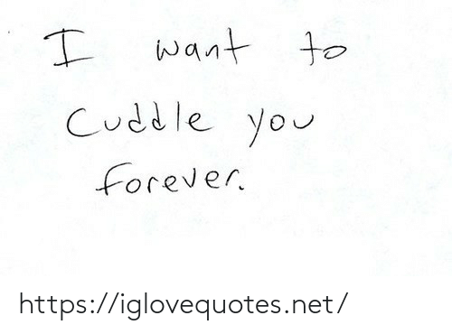 Forever, Net, and You: want to  Cuddle you  forever. https://iglovequotes.net/