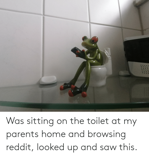 sitting: Was sitting on the toilet at my parents home and browsing reddit, looked up and saw this.