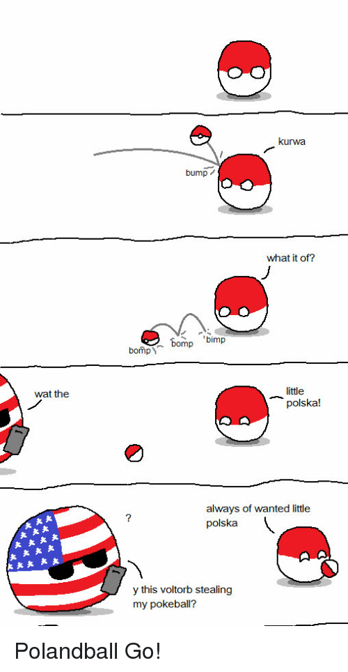 Funny, Wat, and Polandball: wat the  kurwa  bump  what it of?  bomp bimp  bomp  little  polska!  always of wanted little  polska  y this voltorb stealing  my pokeball? Polandball Go!