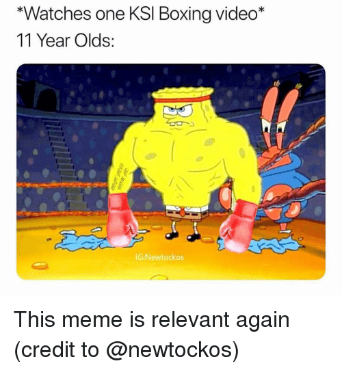 Boxing, Meme, and Memes: *Watches one KSl Boxing video*  11 Year Olds:  G:Newtockos This meme is relevant again (credit to @newtockos)