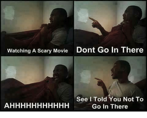 scari movie: Watching A Scary Movie  Dont Go In There  See Told You Not To  Go In There