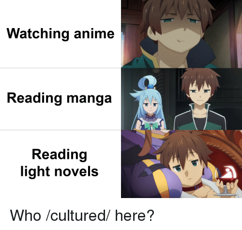 Watching Anime Reading Manga Reading Light Novels Who Cultured Here