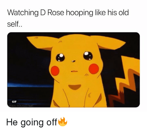 d rose: Watching D Rose hooping like his old  self..  GIF He going off🔥