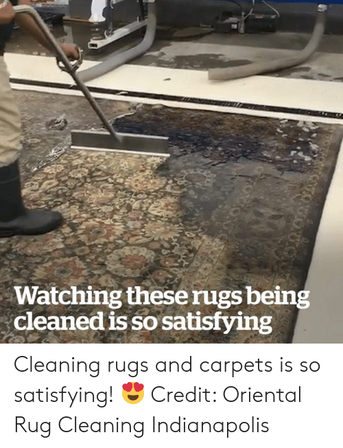 rug: Watching theserugs being  cleaned is so satisfying  otuon Cleaning rugs and carpets is so satisfying! 😍  Credit: Oriental Rug Cleaning Indianapolis