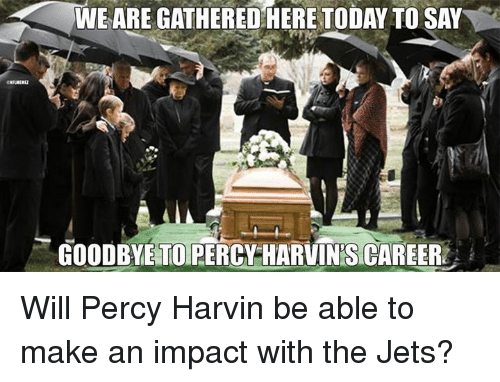 Nfl, Jets, and Today: WE ARE GATHERED HERE TODAY TO SAY  GOODBYE TO PERCY HARVINTS CAREER Will Percy Harvin be able to make an impact with the Jets?