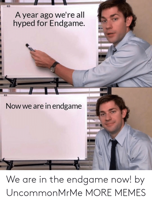 endgame: We are in the endgame now! by UncommonMrMe MORE MEMES