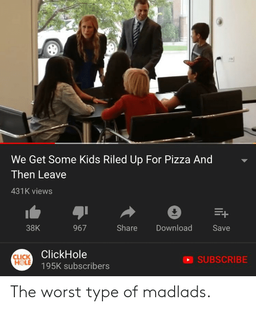 We Get Some Kids Riled Up For Pizza And Then Leave 431k