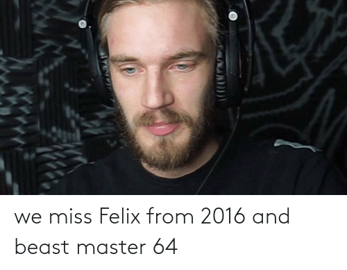 Beast, Master, and Miss: we miss Felix from 2016 and beast master 64