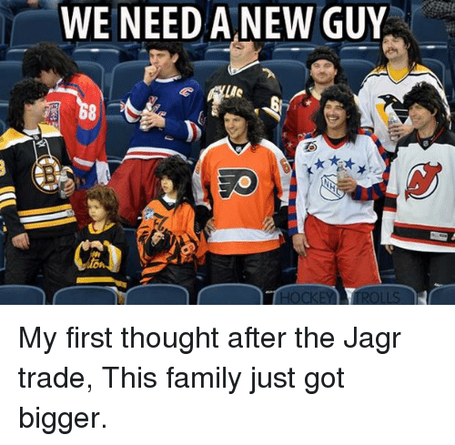 Family, Hockey, and Thought: WE NEED A NEW GUY  HOCKEY TOLLS My first thought after the Jagr trade, This family just got bigger.