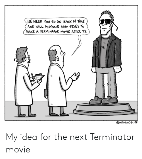Movie, Terminator, and Back: WE NEED You To Go BacK IN IME  AND kllL ANYONE WHo TRIES To  MAKE A TERMINATOR MoVIE AFTER T2 My idea for the next Terminator movie