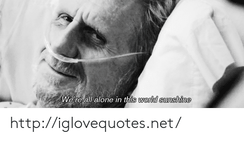 Being Alone, Http, and World: We re all alone in th  world sunshine http://iglovequotes.net/