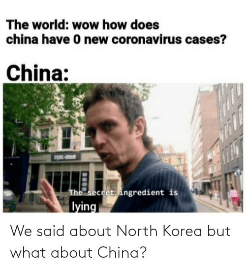 korea: We said about North Korea but what about China?