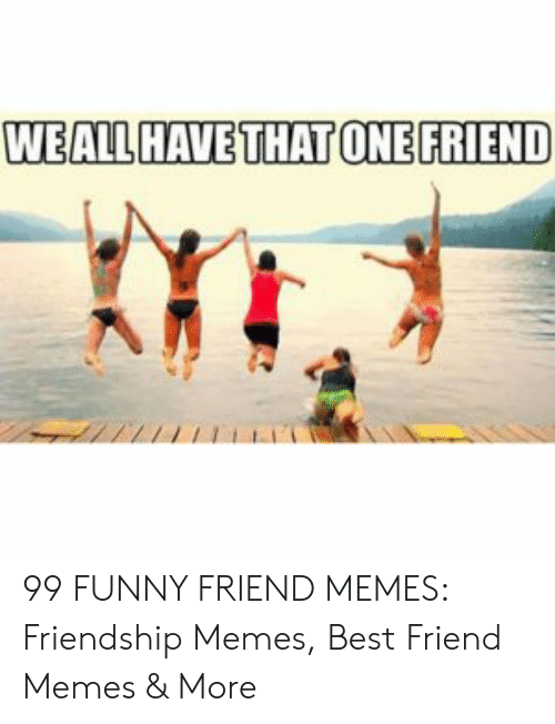 Best Friend, Funny, and Memes: WEALL HAVE THAT ONEFRIEND 99 FUNNY FRIEND MEMES: Friendship Memes, Best Friend Memes & More