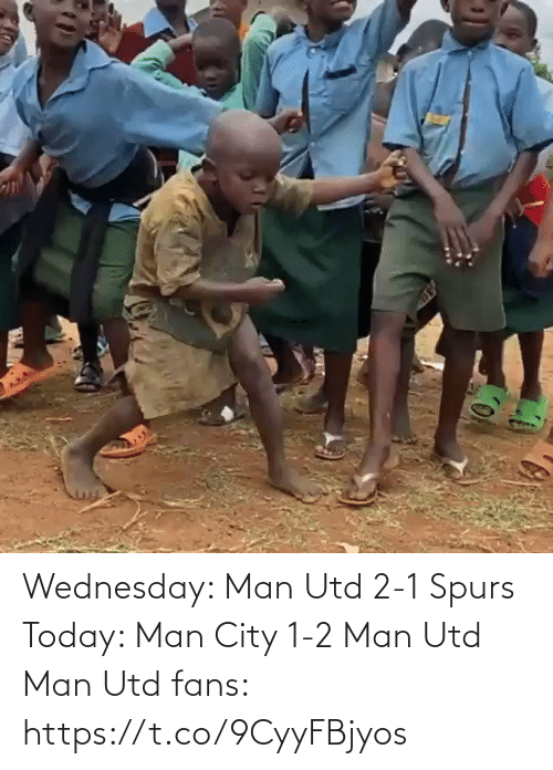 1 2: Wednesday: Man Utd 2-1 Spurs   Today: Man City 1-2 Man Utd  Man Utd fans:  https://t.co/9CyyFBjyos