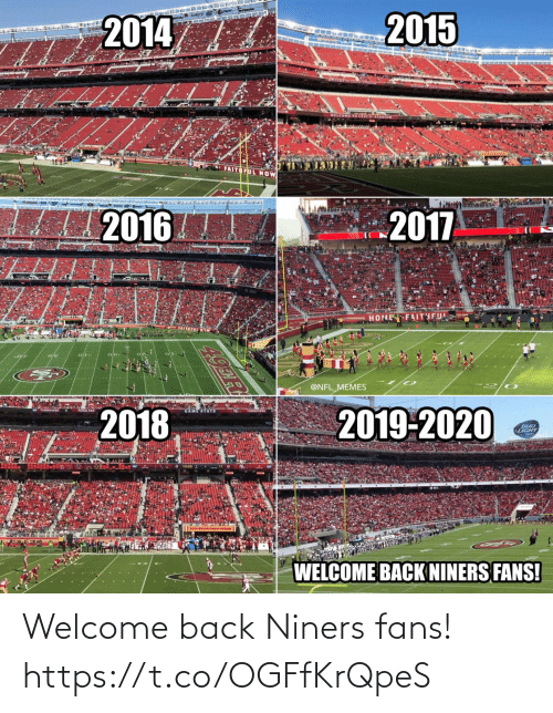 fans: Welcome back Niners fans! https://t.co/OGFfKrQpeS