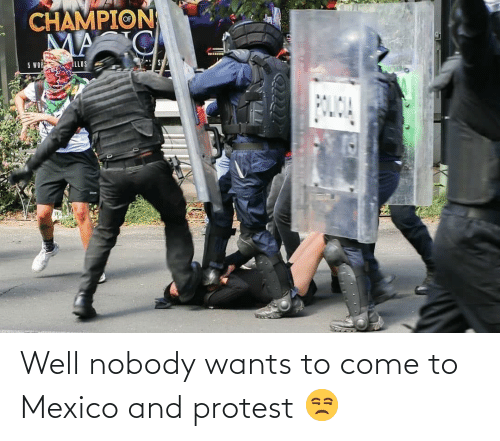 Protest: Well nobody wants to come to Mexico and protest 😒